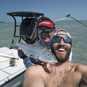 bonefish caught with Capt. Steven and Nick Labadie fly fishing in the Marquesas Keys
