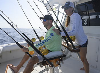 Deep Sea fishing trolling fighting chair