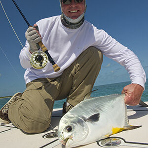Professional flats fishing guided charters for permit in Key West