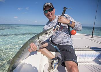 barracuda caught flats fishing